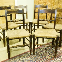 Set of 6 antique North West country chairs.