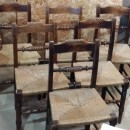 Set of 6 antique country chairs