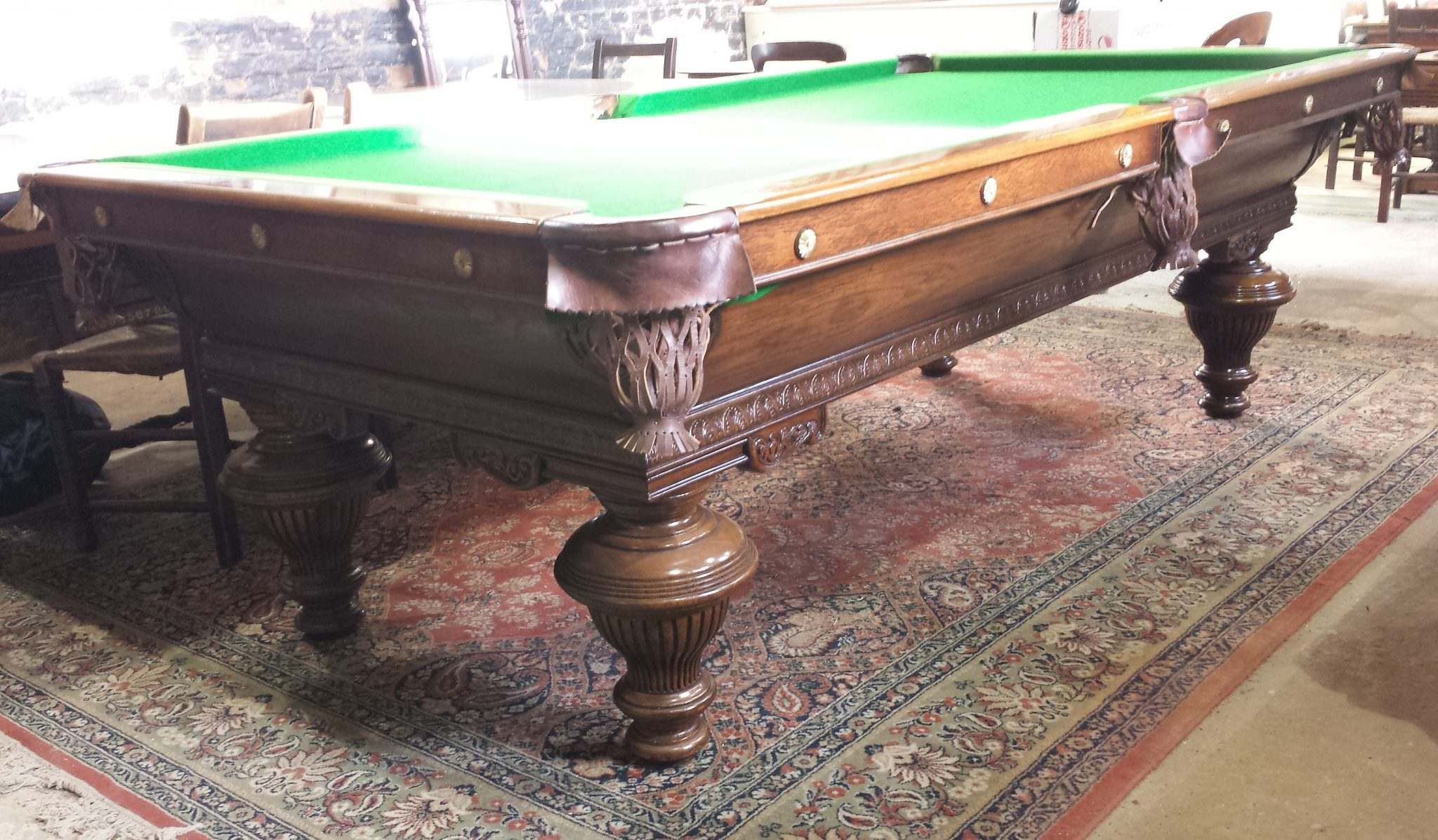 Antique French Pool Table Browns Antiques Billiards And