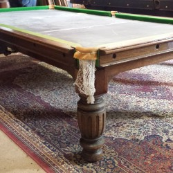 An 8ft antique snooker dining table/diner by smarts of Bristol