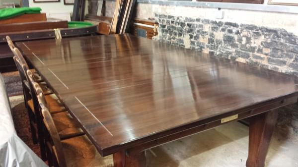 9ft Thos Padmore Antique Refectory Snooker Diner In Oak