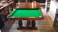 Antique Riley snooker diner with dining leaves.