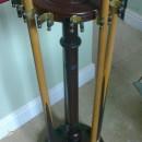 12 clip antique cue stand
