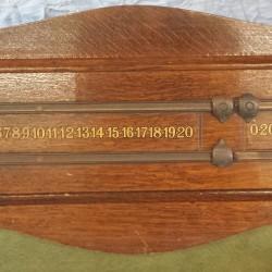 Riley oak antique snooker scoreboard