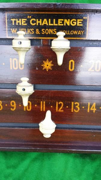 Jelks Antique Mahogany Snooker Scoreboard Browns
