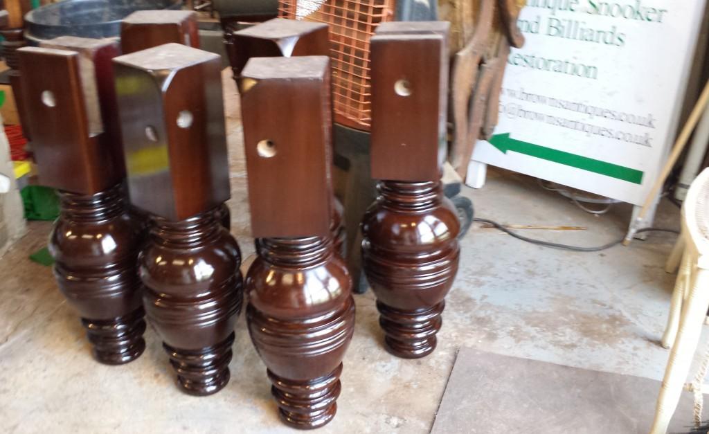 9ft Jelks antique snooker table restoration.