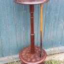 Antique revolving mahogany cue rack
