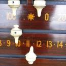 Marker detail|Antique snooker scoreboard in mahogany by Jelks