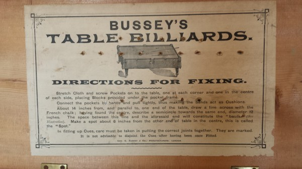 Geo Bussey Boxed Table Billiards Set Browns Antiques