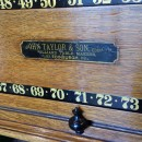 John taylor antique snooker rollerboard scoreboard in mahogany