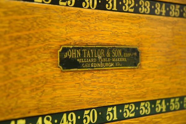 Oak John Taylor Rollerboard Scoreboard Browns Antiques