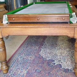 Padmore antique snooker dining table