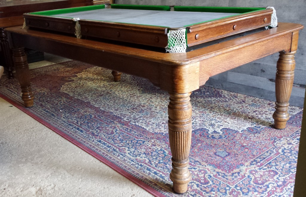 Padmore rollover antique billiard dining table