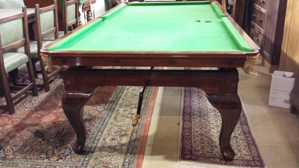8ft Geo Bussey Antique Snooker Dining Table Cabriole Leg