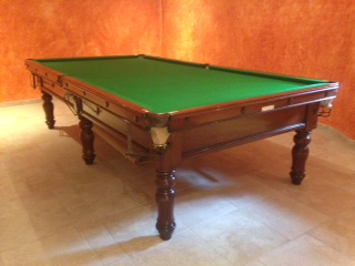 10ft Burroughes and Watts antique snooker table (2)