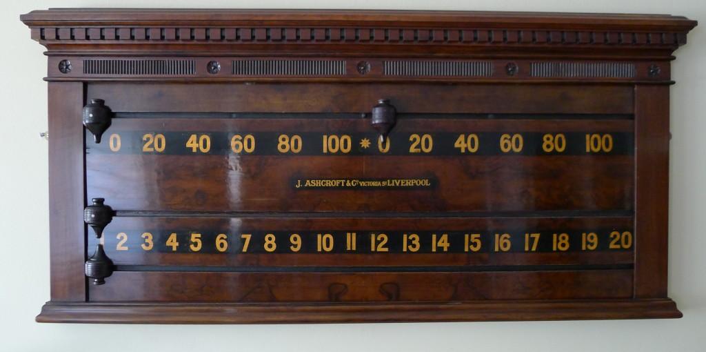 J  Ashcroft snooker scoreboard