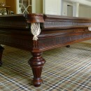 Antique rosewood French pool table 8ft.