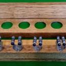 light oak antique 6 clip cue rack