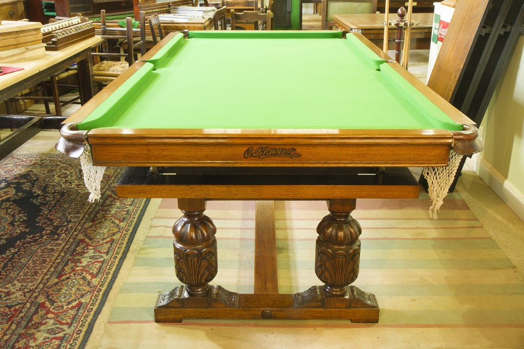 Riley 7ft antique snooker dining table in oak,refectory style