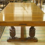 7ft Riley Antique Refectory Snooker Dining Table Carved