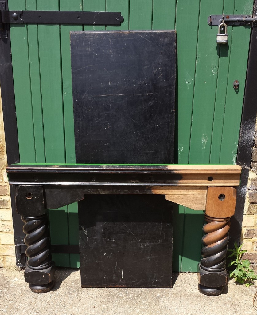 8ft Oak Riley barley twist Antique snooker dining table
