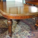 8ft Victorian mahogany wind out dining table