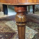 Leg detail,8ft Victorian mahogany wind out dining tabl