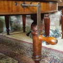 Winding handle,8ft Victorian mahogany wind out dining table