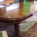 Dining leaves|8ft Victorian mahogany wind out dining table