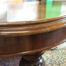 Moulding detail on 8ft Victorian mahogany wind out dining table