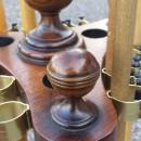 vintage oak revolving cue rack