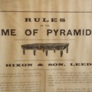 Rules of the game of Pyramids by W Hixon.