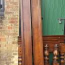 long sides of oak pool table