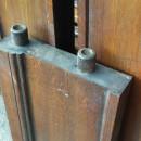 side of oak pool table