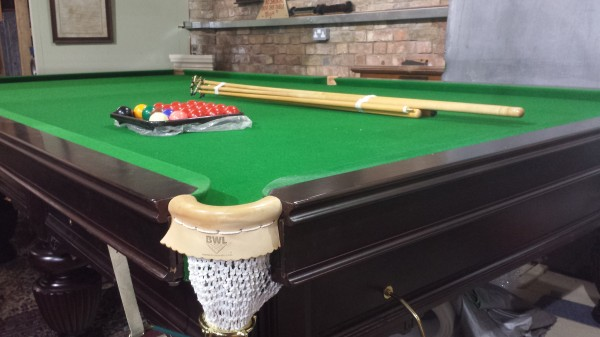 Antique Full Size Snooker Table In Mahogany Browns