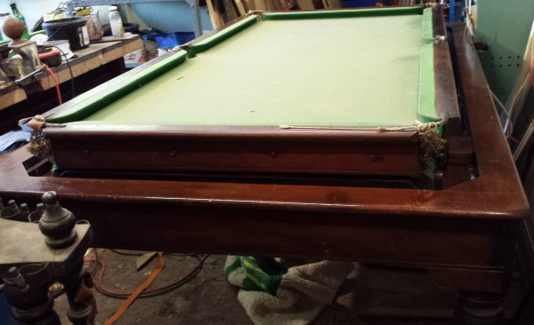 Antique Snooker Dining Table Rollover Gamages 6ft