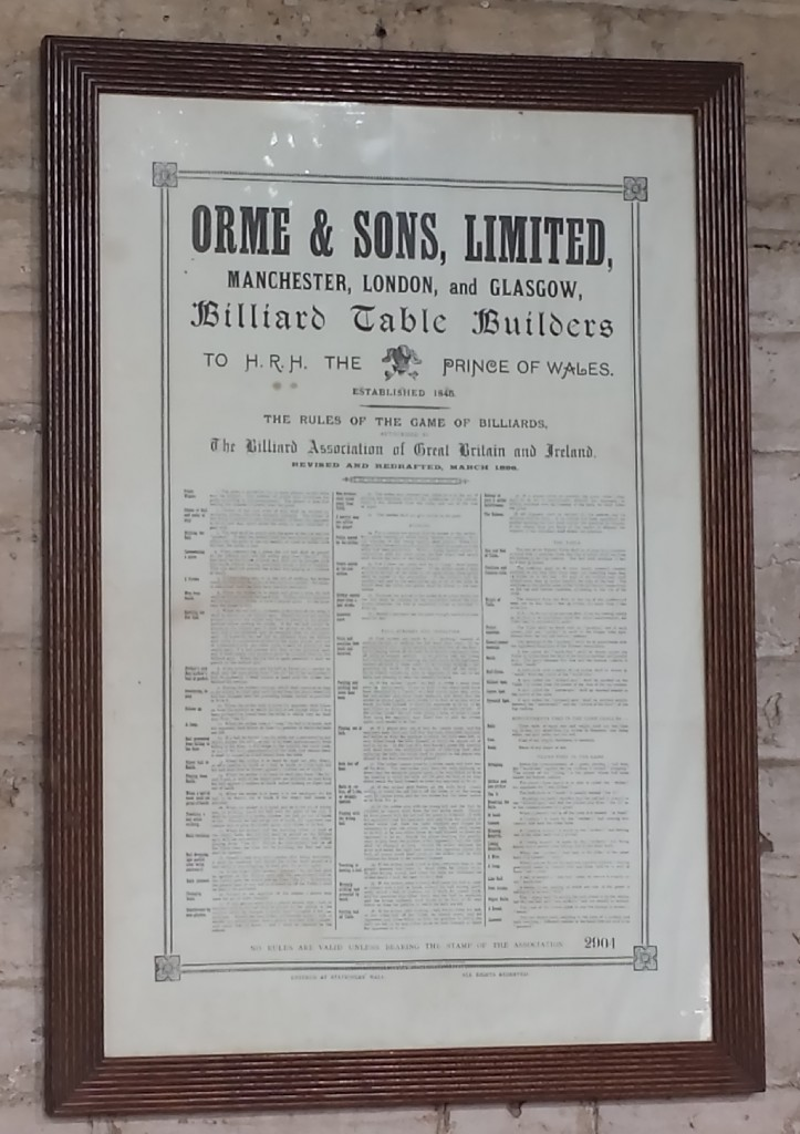 Framed orme and son rules of the game of billiards