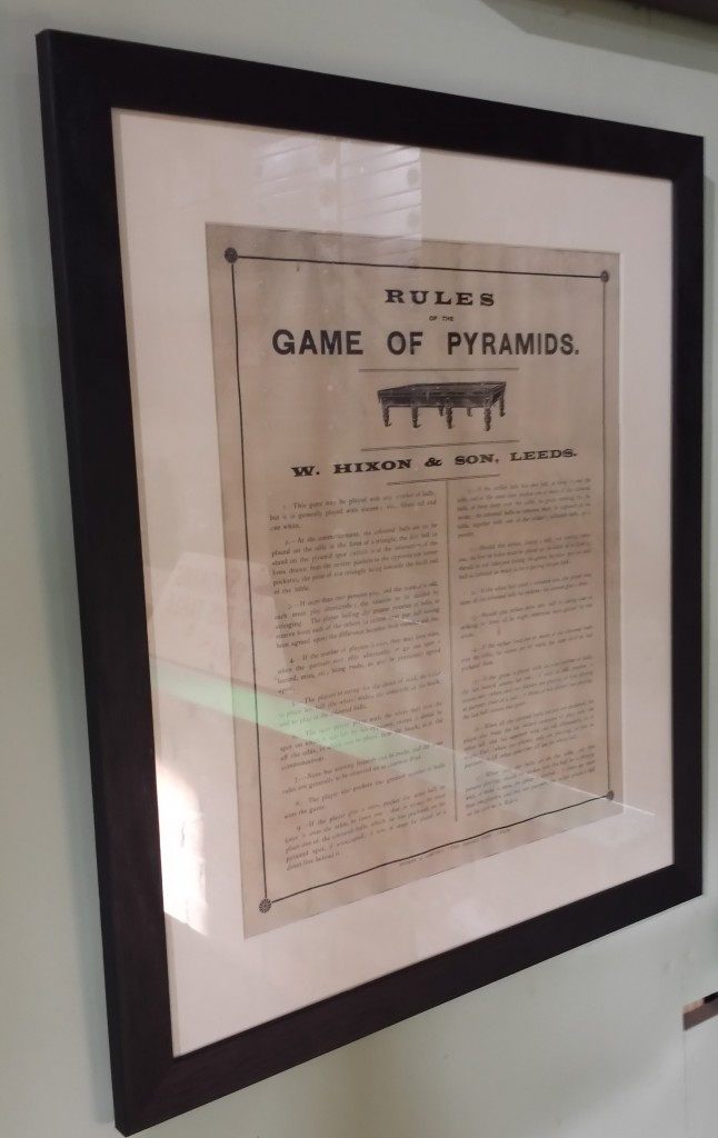 Framed pyramids rules