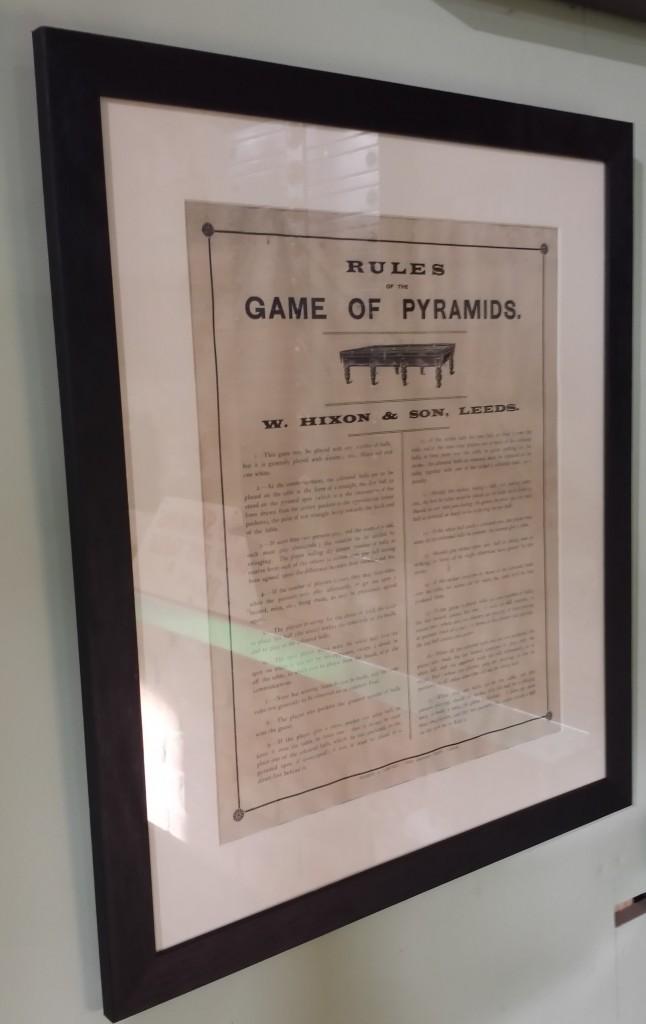 Framed pyramids rules