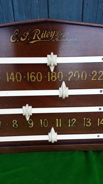 Vintage Riley Scoreboard Oak B507 Browns Antiques