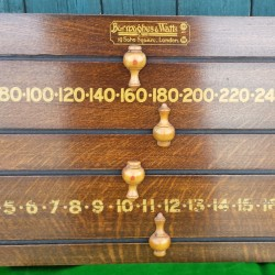 Burroughes and Watts antique snooker scoreboard