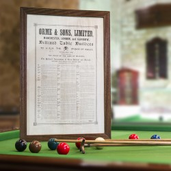 Orme and Sons limited. The rules of the game of Billiards