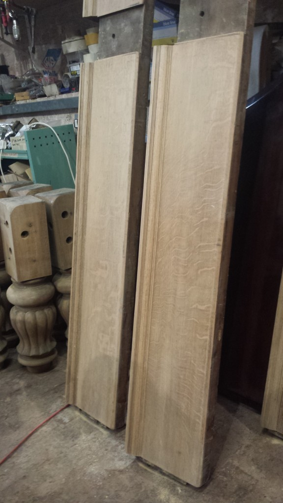 Cox and Yeman stripped snooker table sides