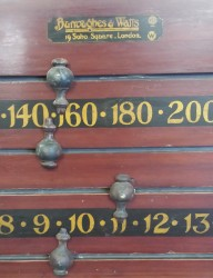 Antique snooker scoreboard by Burroughes and Watts. B640