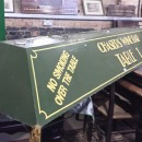 Snooker table light canopy.