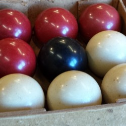Crystalate Boxed Bagatelle Balls Browns Antiques