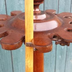 a 12 clip antique mahogany cue stand