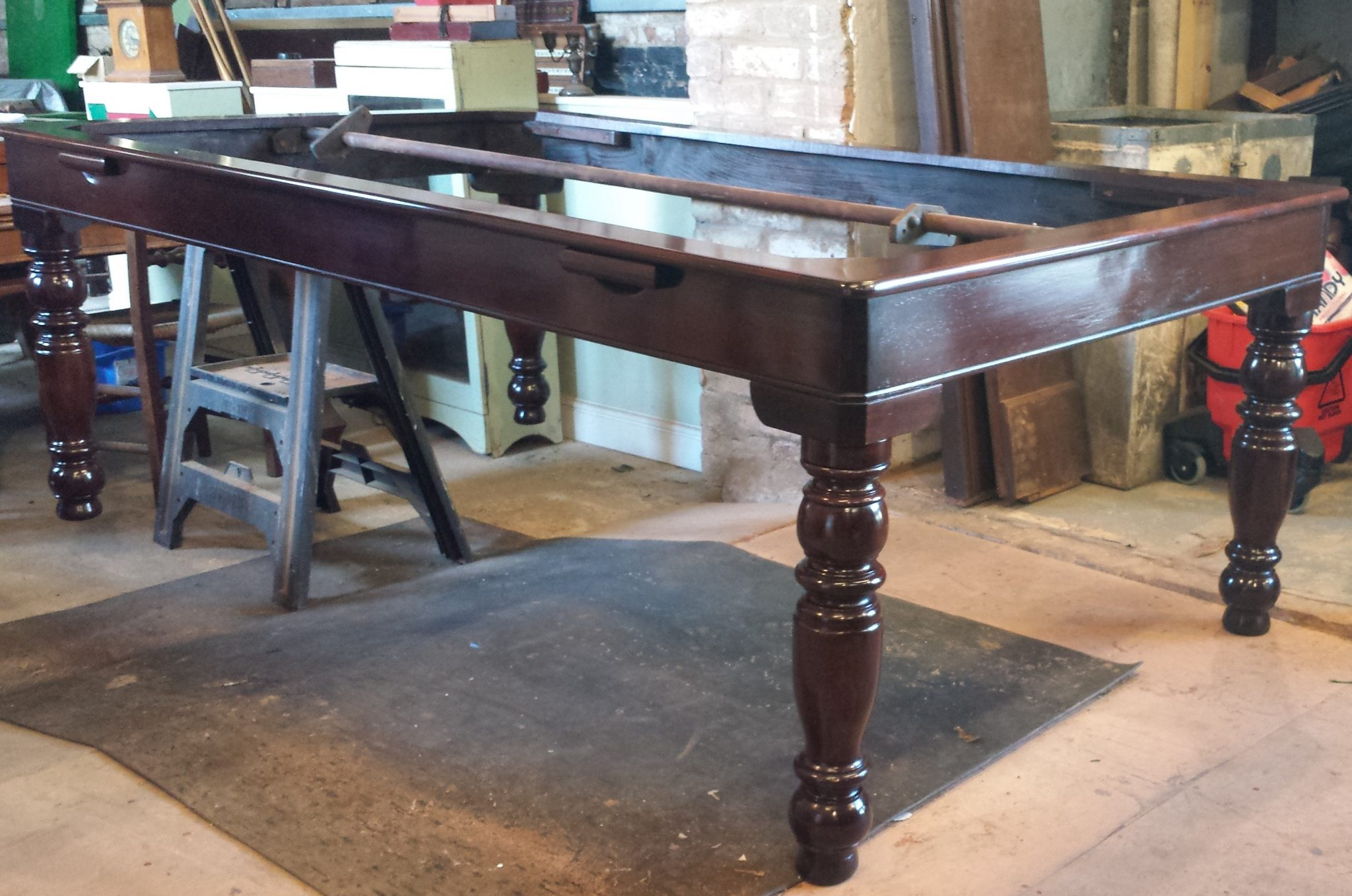 Gamage Antique Rollover Snooker Dining Table Frame