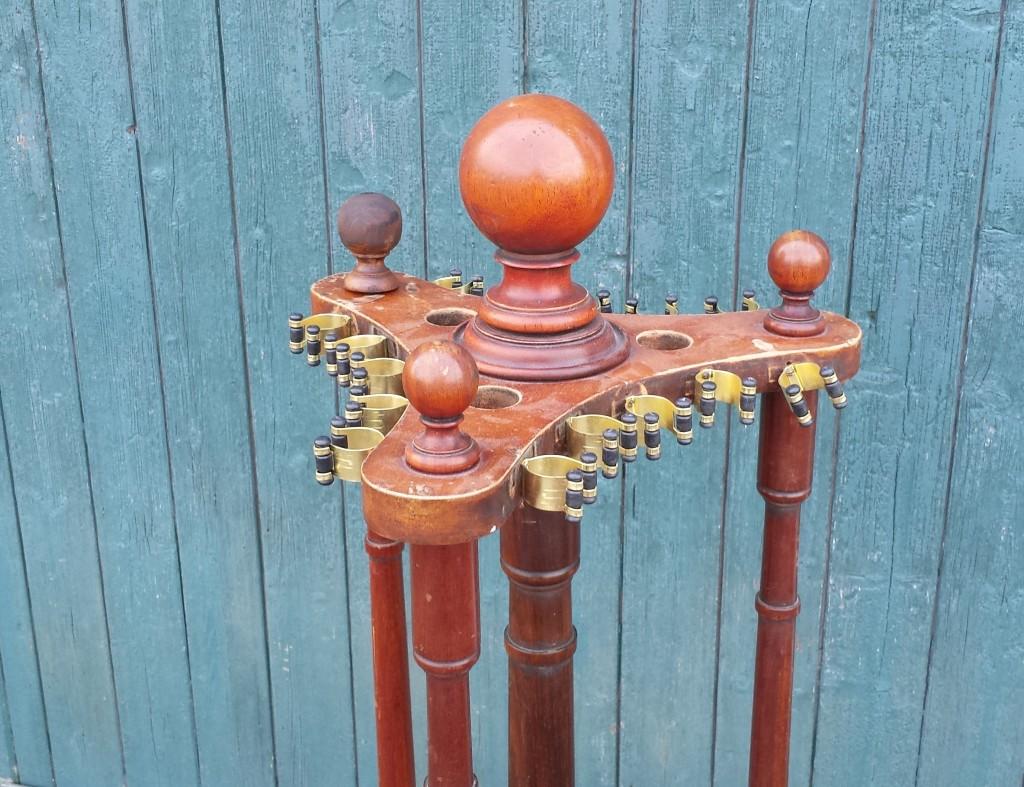 mahogany revolving cue stand 15 clip