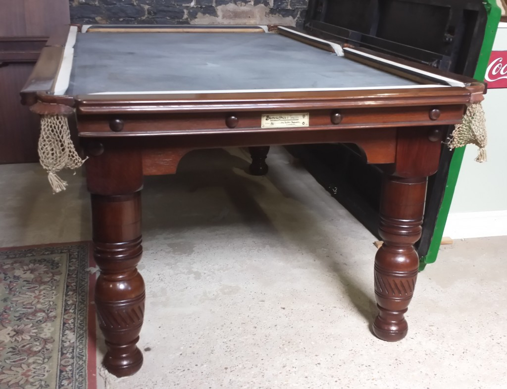 7ft antique snooker or pool table.